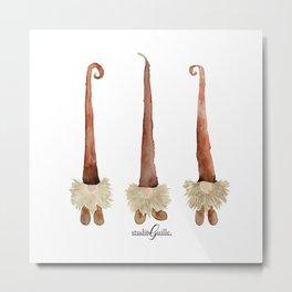 Holiday Gnomes - Trio Metal Print