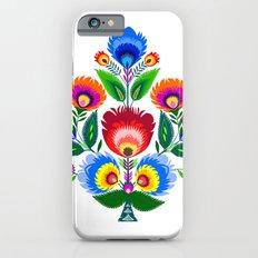 colorful folk flowers iPhone 6s Slim Case