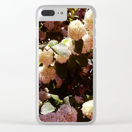 Pink Snowballs II Clear iPhone Case