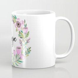Hope Lettering Watercolor Ilustration Coffee Mug