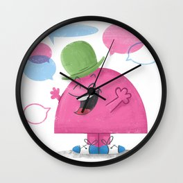 Mr. Chatterbox Wall Clock