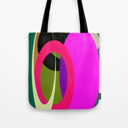 Abstract Composition in Green and Fuchsia Tote Bag