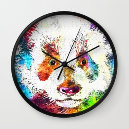 Giant Panda Grunge Wall Clock