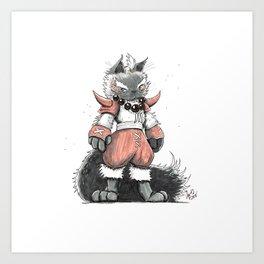 Berserker Himalayan Cat Art Print