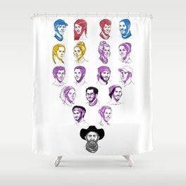 35 - Heroes v. Healers v. Hustlers Shower Curtain