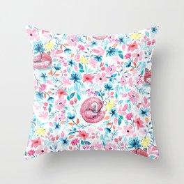 Fox in the Garden Throw Pillow