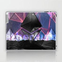 Ethereum Moon and Stars landscape Laptop & iPad Skin