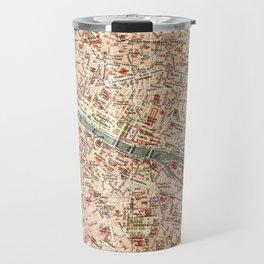 Vintage Map of Paris Travel Mug