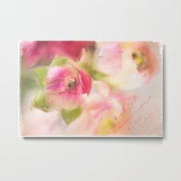 Painted Floral Metal Print