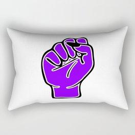 Purple female fist Rectangular Pillow