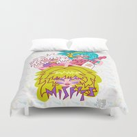 misfits Duvet Covers featuring Misfits Jem and the Holograms by Lady Love