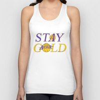 stay gold Tank Tops featuring Stay Gold by Ant Atomic
