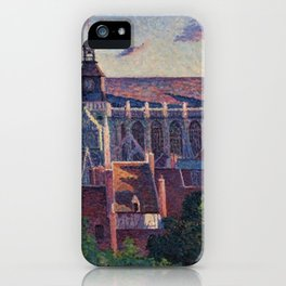 Cathedral at Gisors, View of the Ramparts, Paris, France by Maximilien Luce iPhone Case