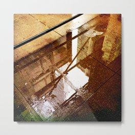 Relection Street Metal Print