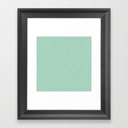 Chicken Wire Mint Framed Art Print