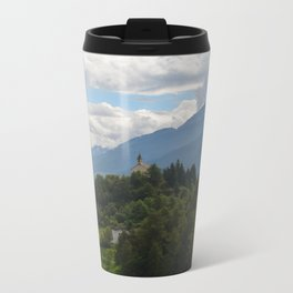 A glimpse through the forest Metal Travel Mug