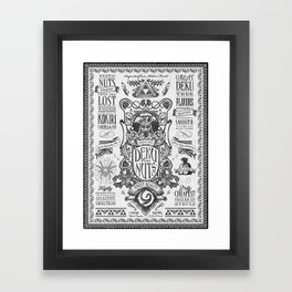 Legend of Zelda inspired Deku Nuts Vintage Advertisement Framed Art Print