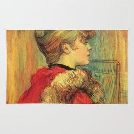 "Henri de Toulouse-Lautrec ""Girl in a Fur (Miss Jeanne Fountain)"" Rug"