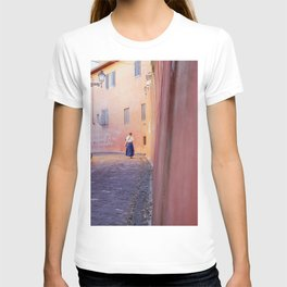 The city of Florence, Italy | Beautiful pink streets in Firenze | Poster print art T-shirt