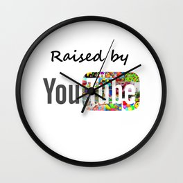 Raised By YouTube Wall Clock