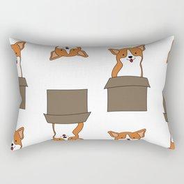 Corgi-in-a-box Rectangular Pillow