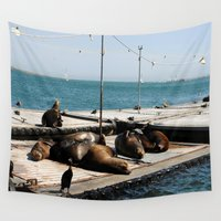 san diego Wall Tapestries featuring San Diego by Taylor