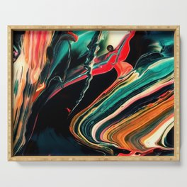 ABSTRACT COLORFUL PAINTING II-A Serving Tray