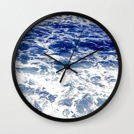 Sea Foam I Wall Clock