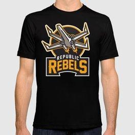 Republic Rebels - Black T-shirt