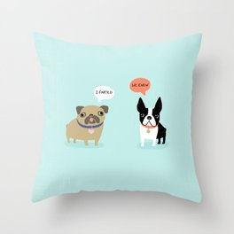 Dog Fart Throw Pillow