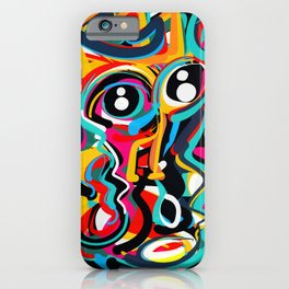 Yellow Street Art Neo Expressionist Portrait of the artist iPhone Case