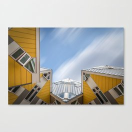 Cube houses in Rotterdam Canvas Print