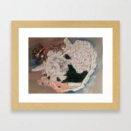 Buried Deep in Colder Places Framed Art Print