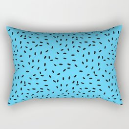 Strawberry Seeds | Blue Rectangular Pillow