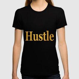 Hustle in Bold Gold T-shirt