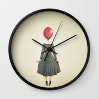 balloon Wall Clocks featuring Balloon  by MojoPhoto59