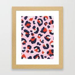 Leopard Print – Red & Pink Framed Art Print