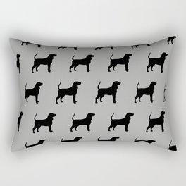Coonhound Silhouette Rectangular Pillow