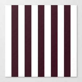 Chocolate Kisses purple - solid color - white vertical lines pattern Canvas Print