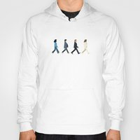 downton abbey Hoodies featuring The tiny Abbey Road by Victor Trovo Afonso