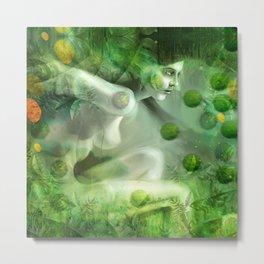 """""""Aquatic Spring Girl"""" (2018 Version) Metal Print"""