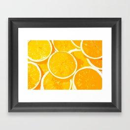 Orangy Oranges Framed Art Print