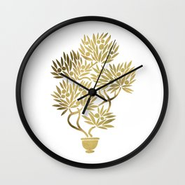 Bonsai Fruit Tree – Gold Palette Wall Clock