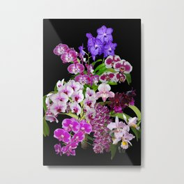 Orchids - Cool colors! Metal Print