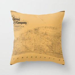 Map of Sausalito 1868 Throw Pillow