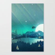 Beneath Barafundle Canvas Print