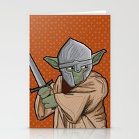 medieval Stationery Cards featuring Yoda medieval  by  Steve Wade ( Swade)