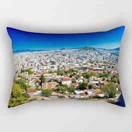 Athens Cityscape Rectangular Pillow