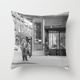 Across from Yaletown Roundhouse Skytrain station Throw Pillow