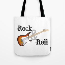 Rock and Roll Guitar Tote Bag